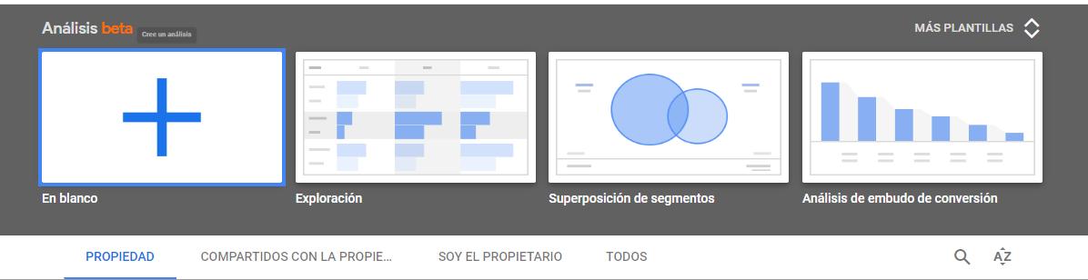 Herramienta Análisis del nuevo Google Analytics Web + App