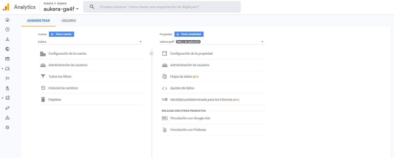 El nuevo Google Analytics no tiene vistas