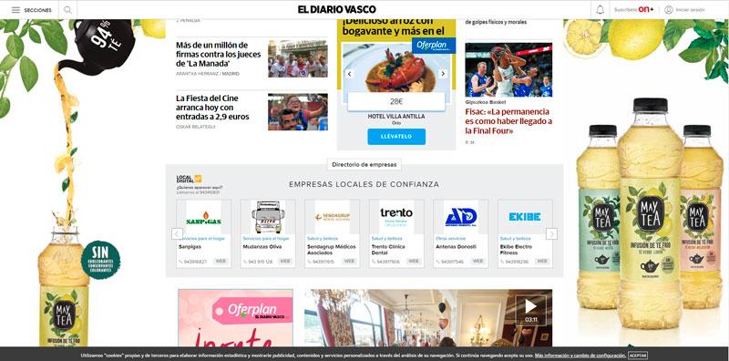 Publicidad en Diario Vasco
