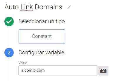 Auto link domain constant variable