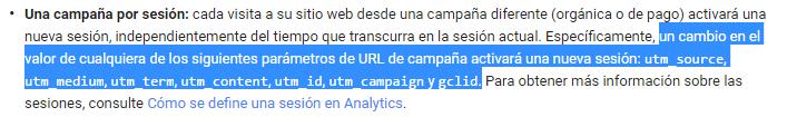 Cambio sesión Google Analytics