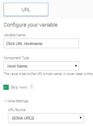 Click URL Hostname variable - GTM