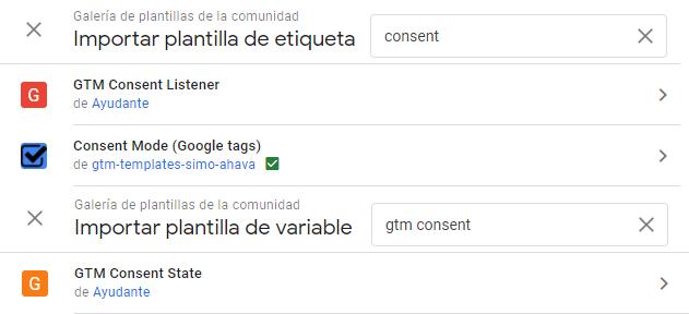 plantillas helpers consent mode
