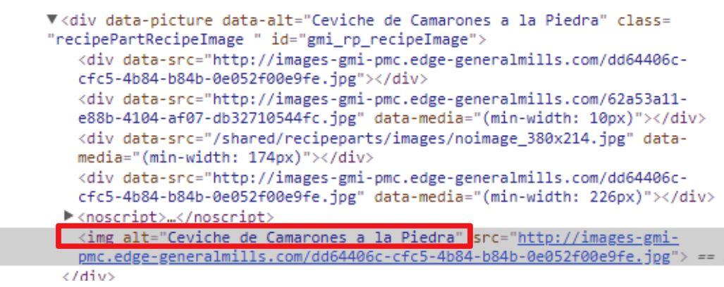 codigo imagen ceviche peruano camaron