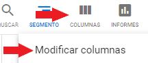 Modificar columnas en Google Ads