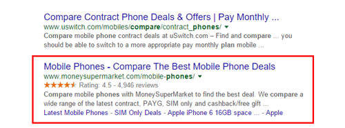 rich snippets in SERP