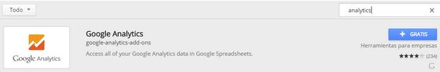 Complemento Google Drive para API Google Analytics