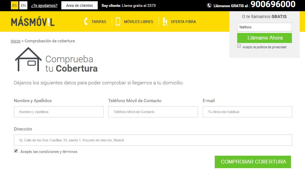 Consulta de cobertura de Masmovil: posibilidades del tracking con Tag Manager para Telecos: Aukera