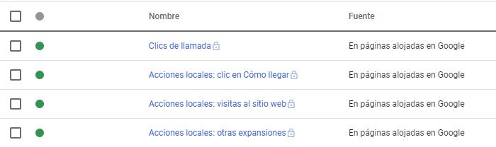 Conversiones de Google My Business en Google Ads