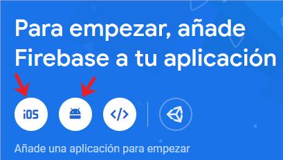 Creación de App en Firebase