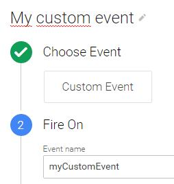 Custom event trigger google tag manager