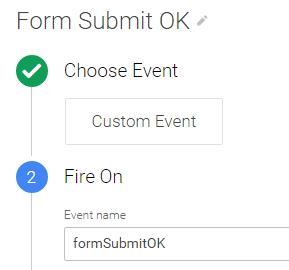 Custom GTM event formSubmitOK