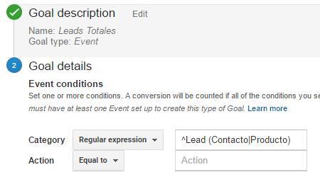 Google Analytics: Expresión regullar empieza por (regex)