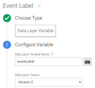 variable event label