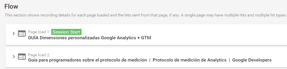 Flow Google Analytics Tag Assistant