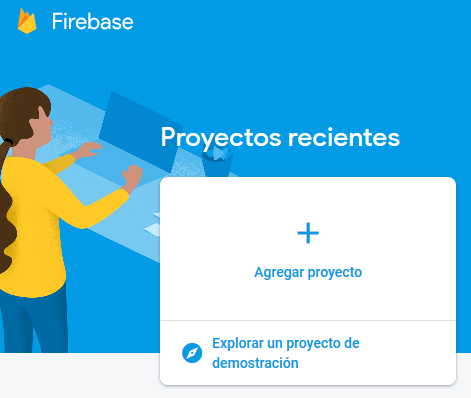 Firebase: crear nuevo proyecto