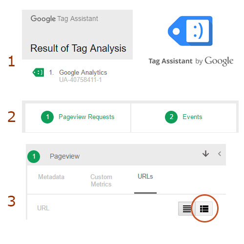 Google Analytics Hit - Tag Assistant