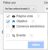 Filtros Explorador de usuario Google Analytics