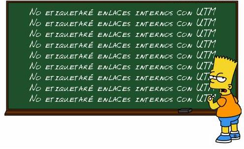 Google Analytics UTM enlaces internos