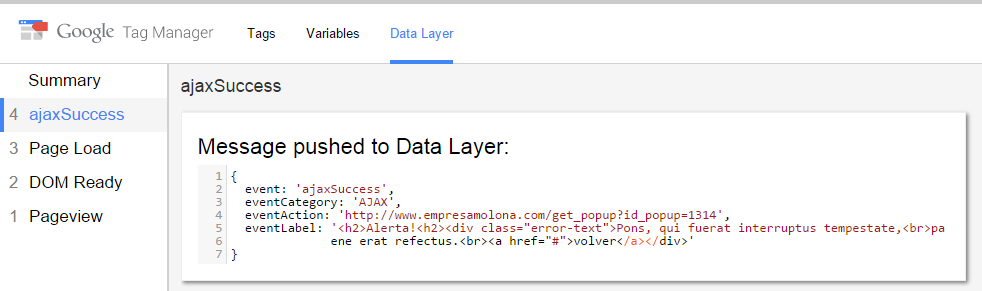 Tracking AJAX events with Google Tag Manager - Aukera
