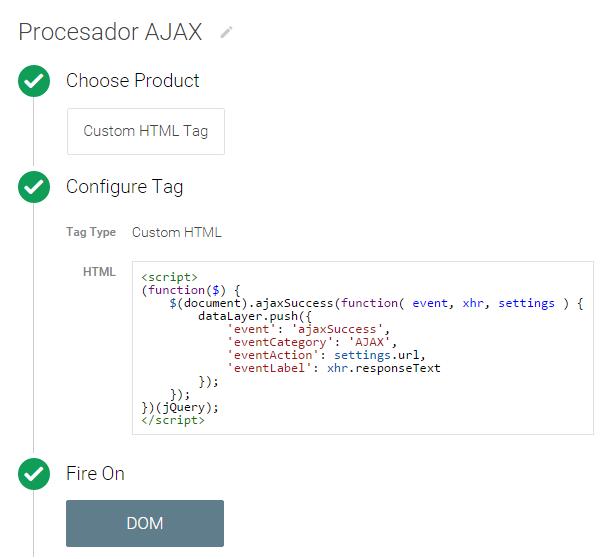 procesador eventos AJAX