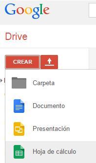 Hoja de cálculo de Google Drive