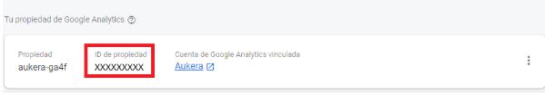 ID de la propiedad de Analytics en Firebase