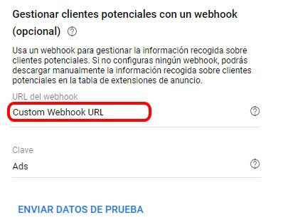 Implementar el webhook en la extensión de formulario