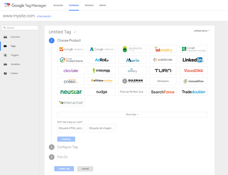 Installing Analytics with Google Tag Manager 1