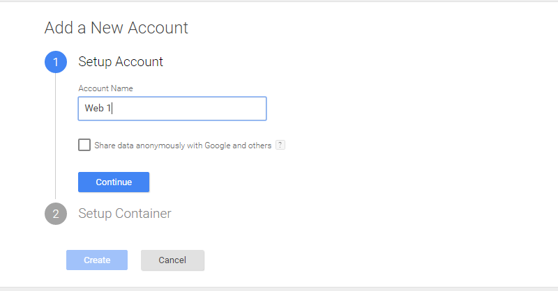 Installing Google Tag Manager 1