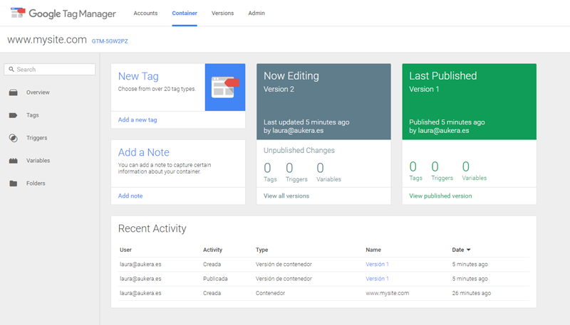 Installing Google Tag Manager 4