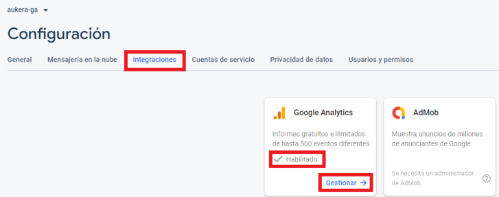 Integración de Google Analytics con Firebase