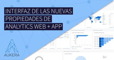 Interfaz de la nueva propiedad de Google Analytics App + Web