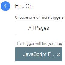Javascript error trigger google tag manager