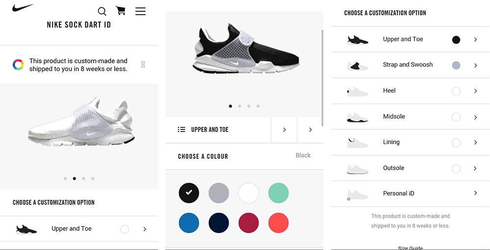 Nike customization process