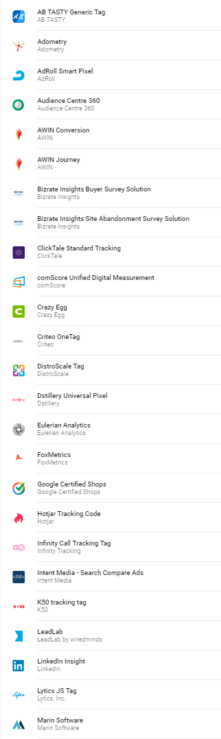 Plantillas de etiquetas en Google Tag Manager