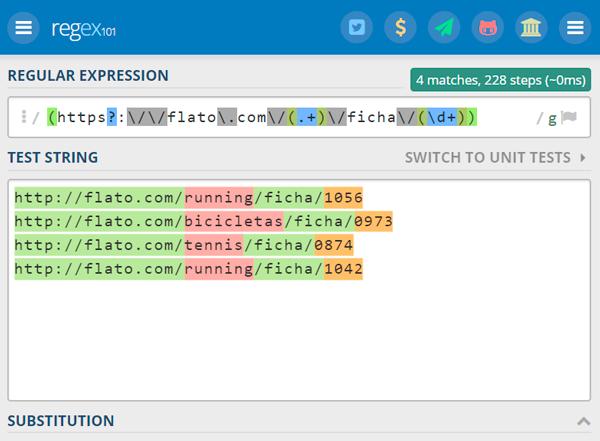 RegEx extraer grupos de información de un URL