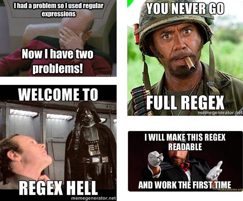 Memes sobre expresiones regulares