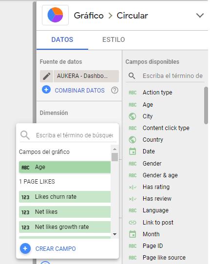Campo calculado con expresiones regulares para crear campos personalizados en Data Studio