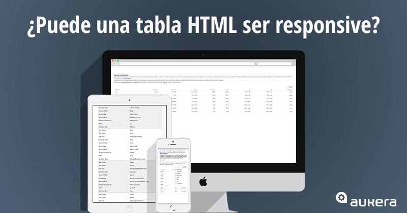 Tablas HTML responsive