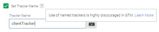 Tracker name Google Analytics (Tag Manager) - Nombre del Objeto de seguimiento