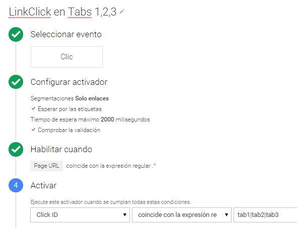 Trigger Páginas virtuales con Tag Manager: Tabs