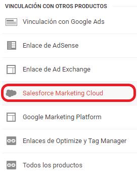 Vinculación de Google Analytics con Salesforce