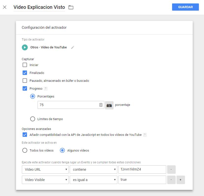 Ejemplo trigger video avanzado