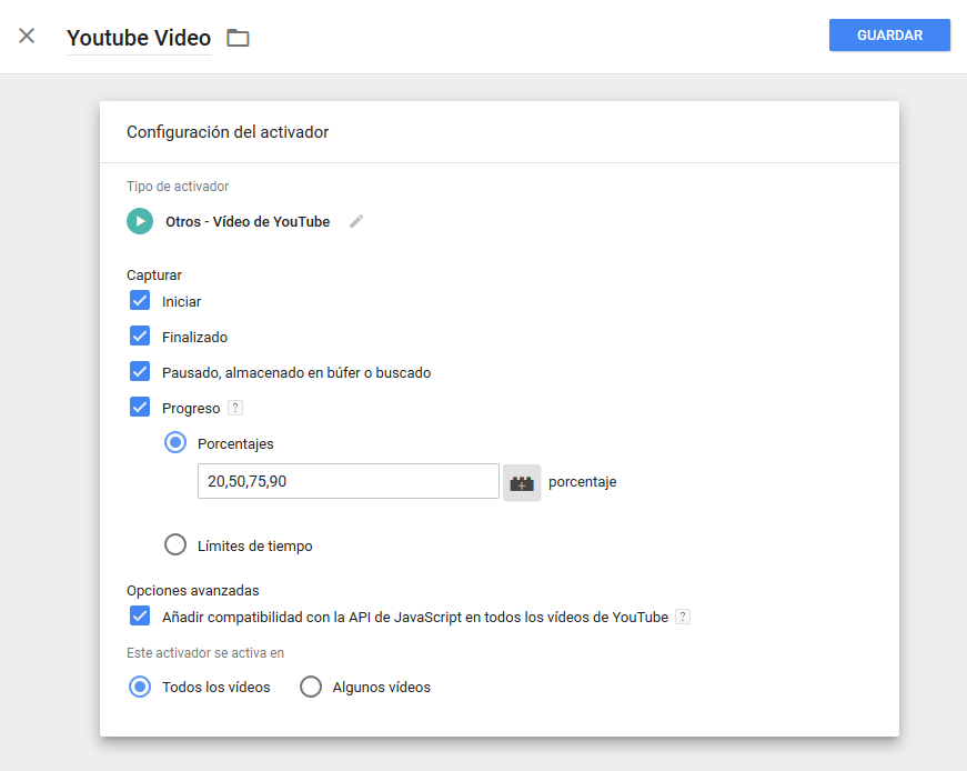 Built-in tracking of YouTube videos in Google Tag Manager - Aukera